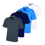 IGTS-1899 Island Green  Men's Plain Polo With DTM Mesh Back Yoke